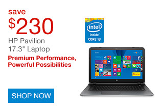 Save $230 on HP Pavilion 17.3